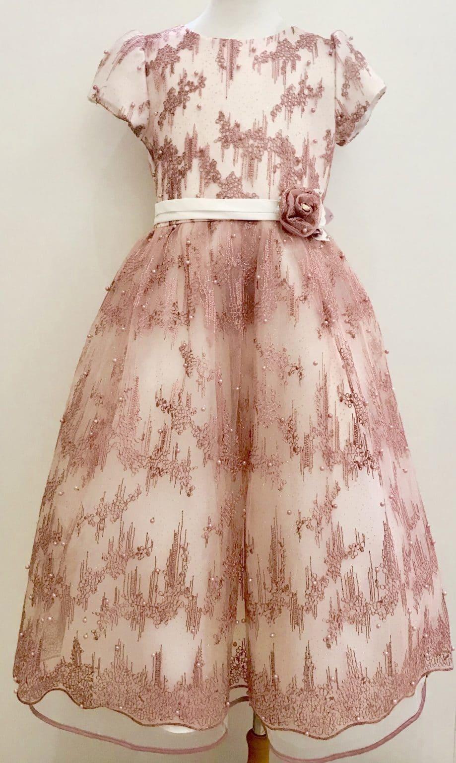 Платье бальное розовое