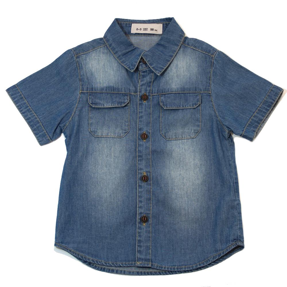 Рубашка джинсовая короткий рукав