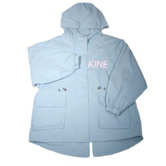 Куртка-парка из дэнима голубая