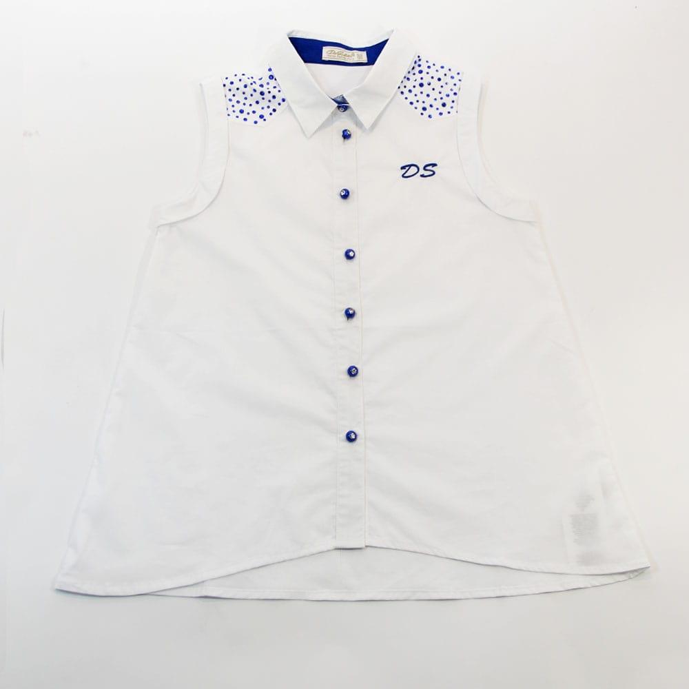 Рубашка без рукавов белая Desalitto