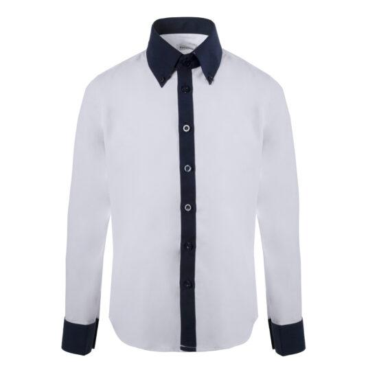 Рубашка Pinetti белая/синяя