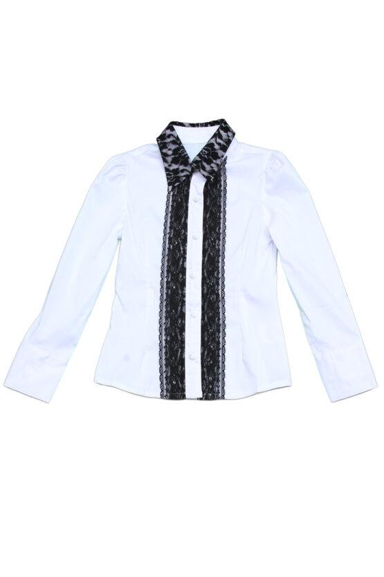 Блуза с черным кружевом Pinetti