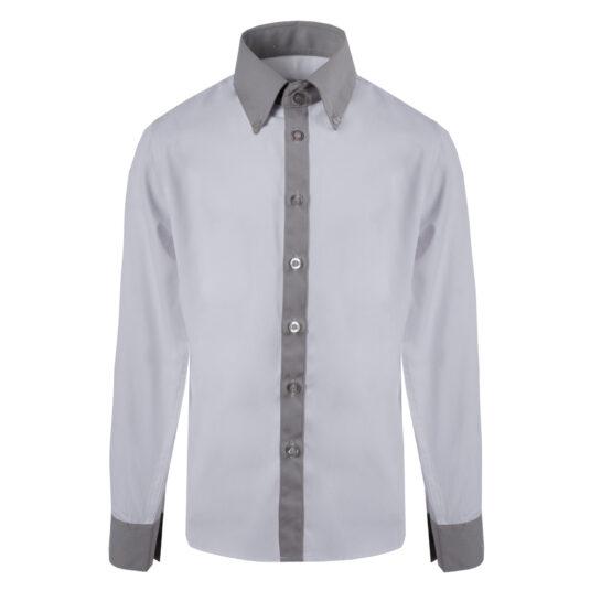 Рубашка Pinetti белая/серая
