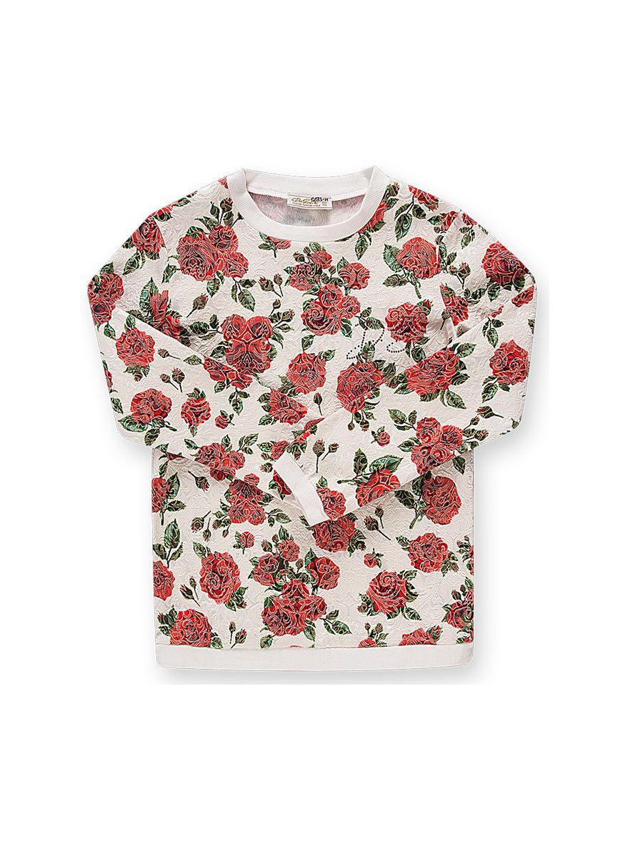 Свитшот белый Rose Sicily