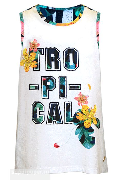 Туника белая Stefania «Tropical»