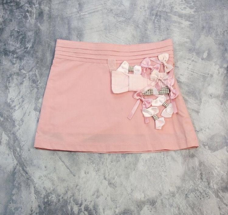 Юбка розовая бантики Desalitto