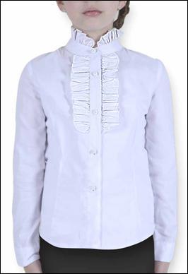 Блуза белая воротник стойка Pinetti
